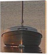 Solitary Sailboat Wood Print