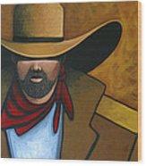 Solo Cowboy Wood Print