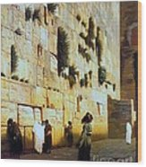 Solomon's Wall  Jerusalem Wood Print