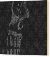 Sombre Skull Wood Print