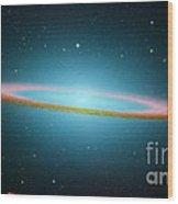 Sombrero Galaxy M104, Ir Image Wood Print