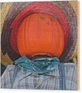 Sombrero Scarecrow Wood Print