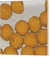 Some Indian Sweets Called A Ladoo In The Shape Of A Sphere Wood Print