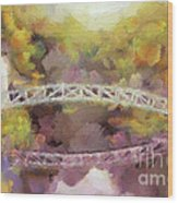 Somes Bridge - Somesville Maine Wood Print
