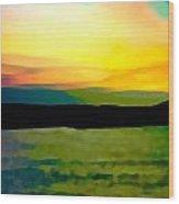 Son Parc Sunset Wood Print