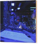 Sonar Technician Stands Watch Wood Print by Stocktrek Images