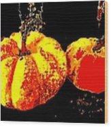 Sonic Pumpkins Wood Print