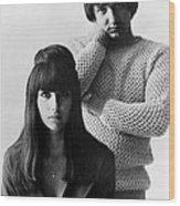 Sonny & Cher, Sonny Right, Cher Left Wood Print by Everett