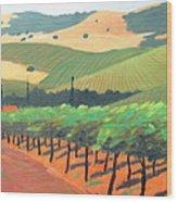 Sonoma Vinyard Wood Print
