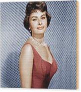Sophia Loren, Ca. 1950s Wood Print by Everett