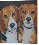 Sophie And Sadie Wood Print