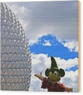 Sorcerer Mickey Wood Print
