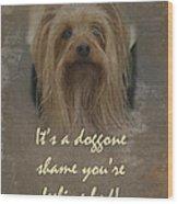 Sorry You're Sick Greeting Card - Cute Doggie Wood Print