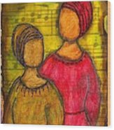 Soul Sistahs Sing Of Friendship Wood Print