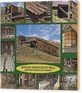 Sound Democrat Mill Compilation Wood Print