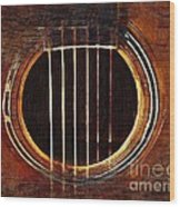 Sound Hole  Wood Print