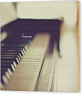 Sound Of Piano Wood Print