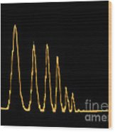 Sound Wave Wood Print