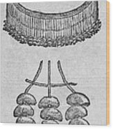Soursop Seeds Used As Necklace Wood Print
