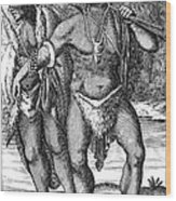 South Africa: Hottetot Man Wood Print