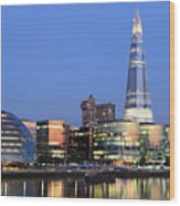 South Bank Of The River Thames, London Wood Print