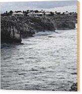 Menorca South Coast In A Stormy Mediterranean Day Wood Print