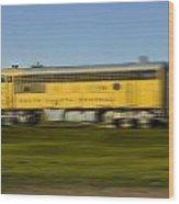 South Dakota Central Train Wood Print
