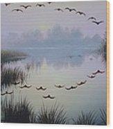 South Lake At Dawn Wood Print