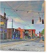 South Main Street Memphis Wood Print