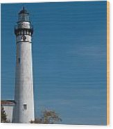 South Manitou Island Lighthouse Wood Print
