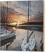 South Queensferry Harbour Wood Print