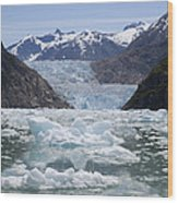 South Sawyer Glacier And Bay Full Wood Print