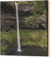 South Silver Falls Into The Pool Wood Print