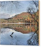 South Tyrol- Lake Of Monticolo Wood Print