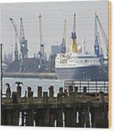 Southampton Old Pier And Docks Wood Print by Jane Rix