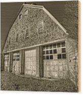 Southampton Potato Barn II Wood Print