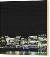 Southbank View Across The River Thames Wood Print