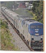 Southbound Amtrak Silver Star Wood Print