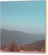 Southern California Mountains 2 Wood Print by Naxart Studio