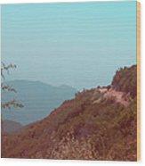 Southern California Mountains Wood Print by Naxart Studio