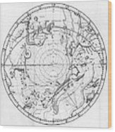 Southern Celestial Map Wood Print