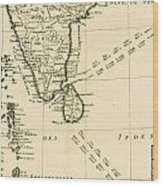 Southern India And Ceylon Wood Print