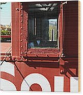 Southern Pacific Caboose - 5d19235 Wood Print