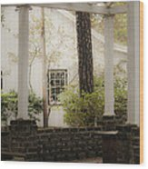 Southern Pergola Charm Wood Print