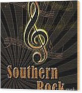 Southern Rock Music Poster Wood Print