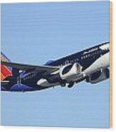 Southwest 737-7h4 N713sw Shamu Phoenix Sky Harbor Arizona December 23 2011 Wood Print