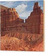 Southwest Desert Scene Wood Print