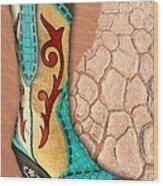 Southwest Snakeskin Boots Wood Print
