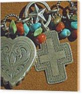 Southwest Style Jewelry With Texas Star Wood Print