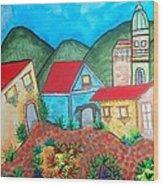 Southwest Village Wood Print